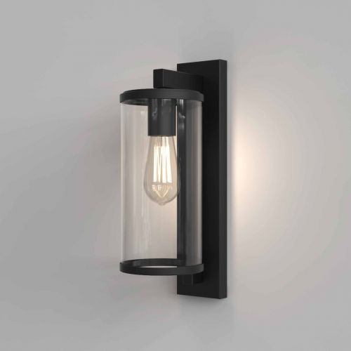 Astro 1413001 Pimlico 400 Outdoor Single Wall Light Textured Black Frame