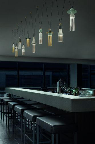 Masiero Nappe Ceiling Large Multi Pendant LED 50W 7500LM Multi-ColouredNAPPE-C10-VMULTI