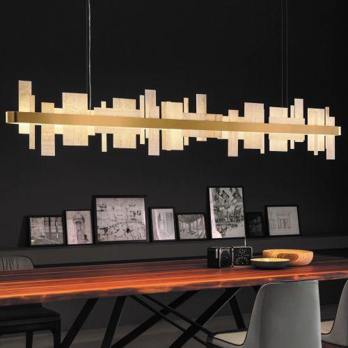 Masiero Honice Ceiling Large 200cm Bar Pendant 65W 11600lm Matt Gold HONICE-S200-V99