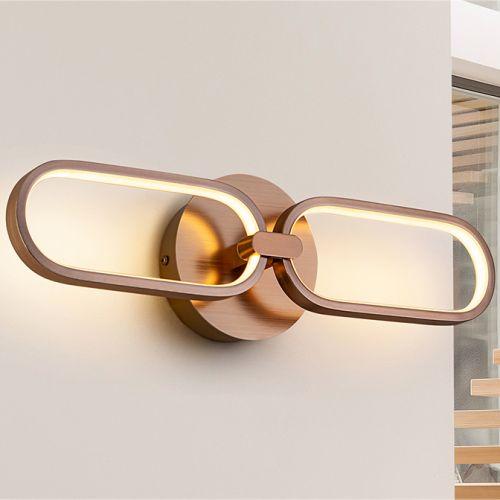 Schuller Colette 787017 LED Twin Wall Light Golden Frame