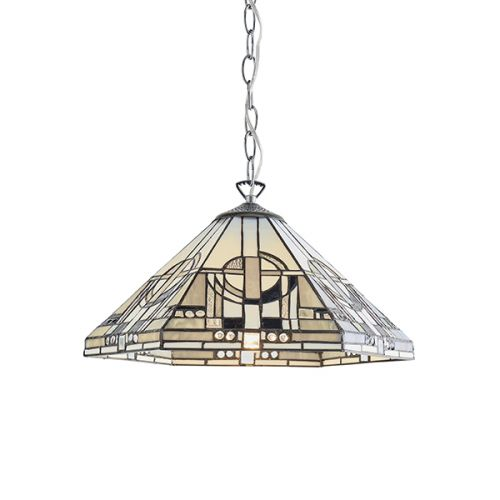 Interiors 1900 Metropolitan 70899 Tiffany Single Medium Pendant