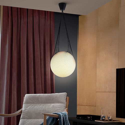 Schuller Globe 353021 Large Spherical Single Glass Pendant