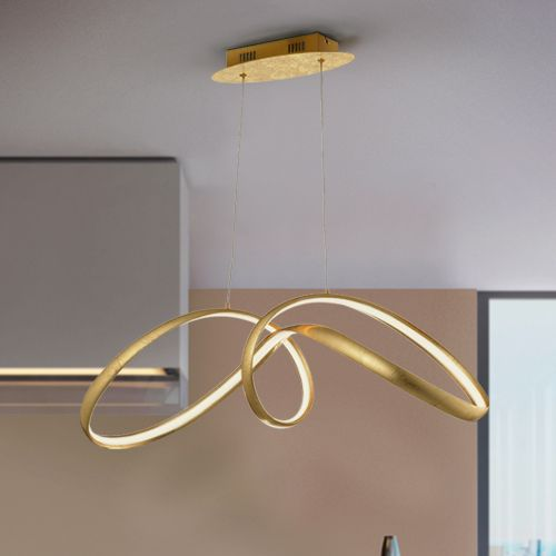 Schuller Lia 328326 LED Single Gold Leaf Pendant