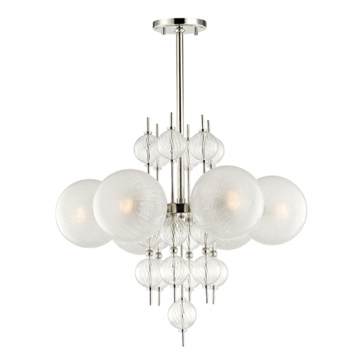 Ceiling Pendant Light Polished Nickel Hudson Valley Calypso 6427-PN-CE