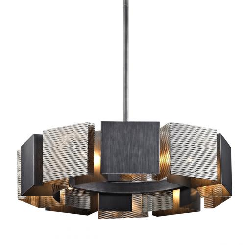 Ceiling Pendant Light Fitting Graphite Troy Impression F6045-CE
