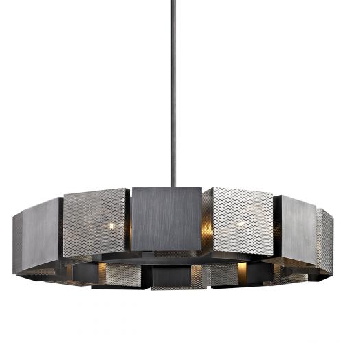 Large Ceiling Pendant Light Graphite Troy Impression F6046-CE