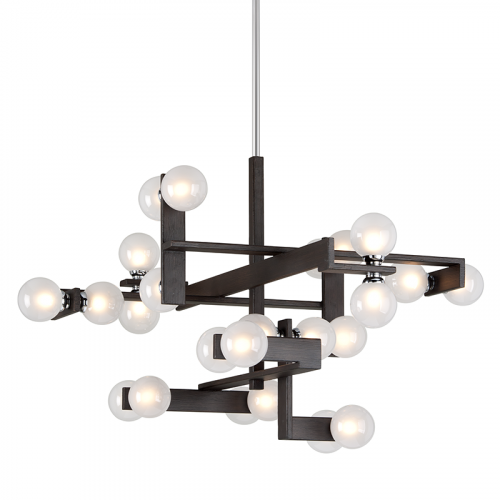 Large Multi-Arm Ceiling Pendant 24 Light Forest Bronze Troy Network F6076-CE