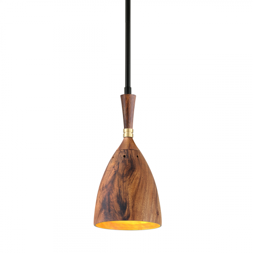 Ceiling Pendant Brass / Wood Corbett Utopia 280-41-CE