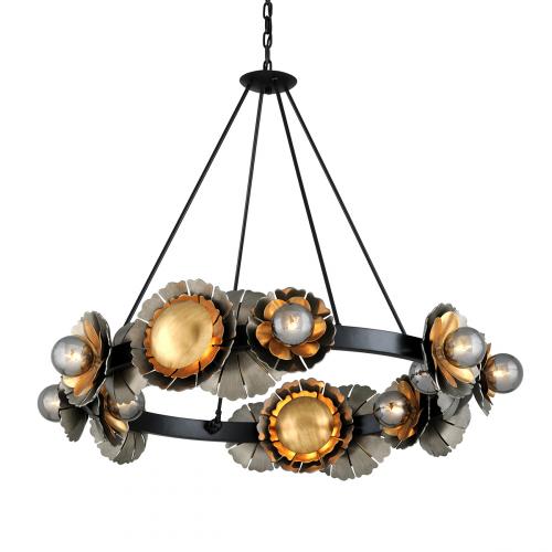 Large Ceiling Pendant 16 Light Black / Graphite / Bronze Corbett Magic Garden 278-016-CE