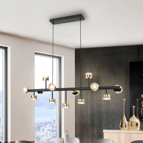 Schuller Altais II 364355D LED Large Ceiling Pendant Matt Black with Remote