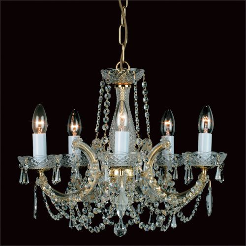 Impex Maria Therese 5 Light Chandelier CP00150/05/G