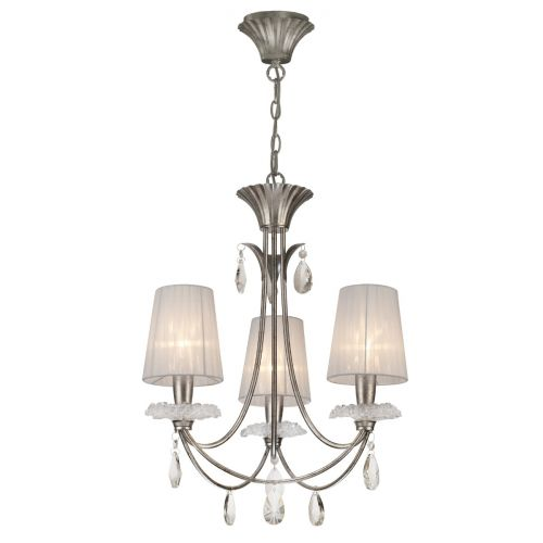 Mantra M6303 Sophie Small 3 Light Silver Chandelier
