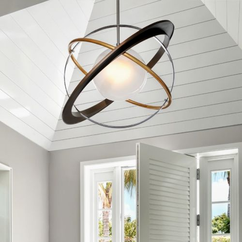 Ceiling Pendant Light Bronze / Gold Leaf Troy Apogee F5511-CE