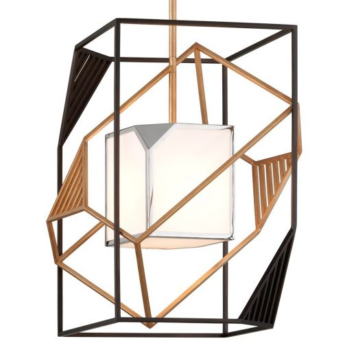 Ceiling Pendant Light Bronze / Gold Leaf Troy Cubist F6085-CE
