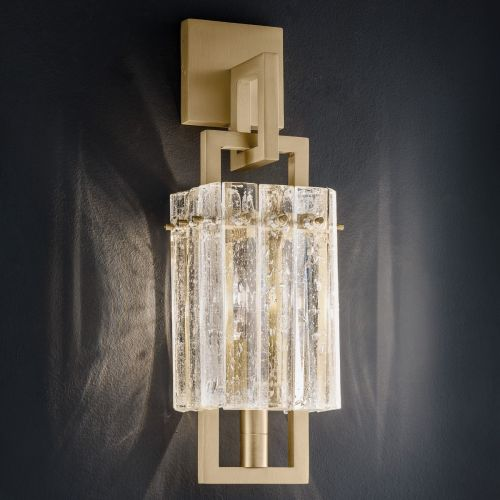 Masiero Crek Wall Light 1 x E14 Brushed Brass CREK-A1-G18