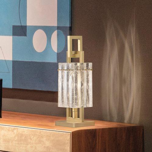 Masiero Crek Table Lamp 1 x E14 Brushed Brass CREK-TL1-G18