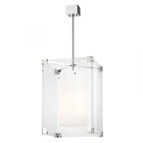 Ceiling Pendant 3 Light Polished Nickel Hudson Valley Achilles 4132-PN-CE