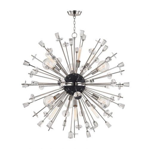 Large Ceiling Pendant 12 Light Polished Nickel Hudson Valley Liberty 5046-PN-CE