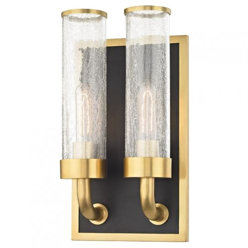 Twin Wall 2 Light Aged Brass Hudson Valley Soriano 1722-AGB-CE