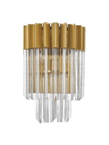 Wall Light 3 Light E14 Brass/Glass Irvin LEK3316