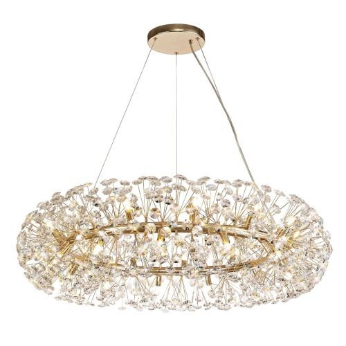 Ceiling Pendant 26 Light G9  French Gold/Crystal Leucas LEK3361