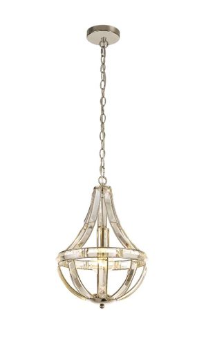 Teardrop Ceiling Pendant 1 Light Polished Nickel Molina LEK3767
