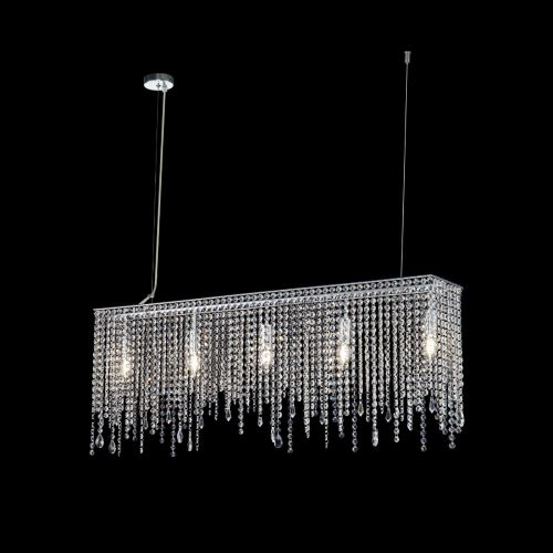 Maytoni Empress Modern 5 Light Ceiling Pendant Fitting Chrome DIA002PL-05CH