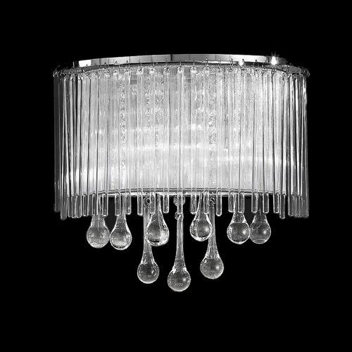 Wall Light Crystal And Glass Drops Shade Liberty LEK60842