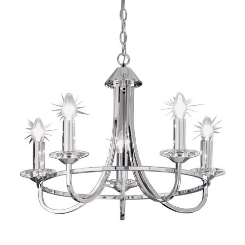 Chrome Ceiling 5 Light Fitting Oklahoma LEK60523