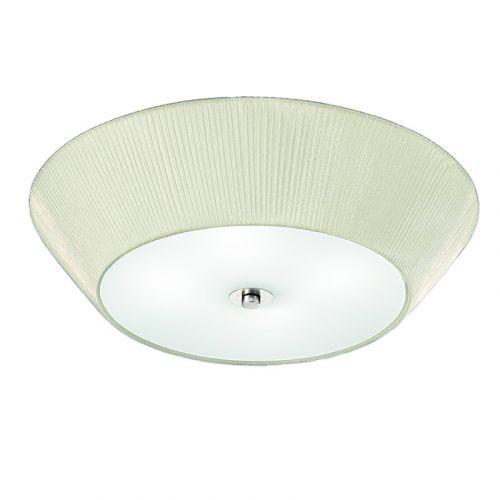 Flush Ceiling 4 Light Fitting Cream Fabric 4 Light  LEK60488