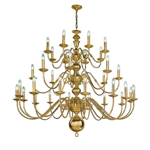 Ceiling 32 Light Fitting Genuine Brass Light Vermeer LEK60150