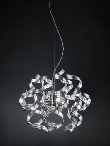 Metal Lux Astro 3 Light Pendant Fitting Murano Glass 206.140.15