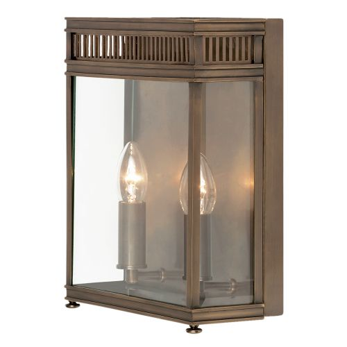 Elstead Holborn 2 Light Wall Lantern HL7/M DB Solid Brass