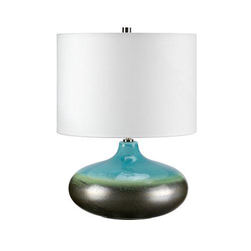 Elstead LAGUNA/TL SM Luis Laguna Turquoise Silver Table Lamp
