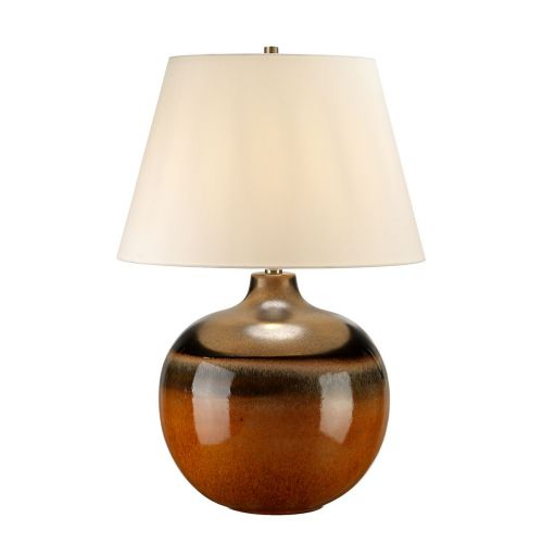 Elstead COLORADO/TL Large Orange and Brown Table Lamp