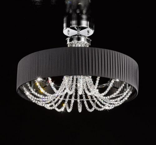Kolarz Gioiosa Ground Crystal Ceiling Light FLO.1097/PL60.04.T-BL