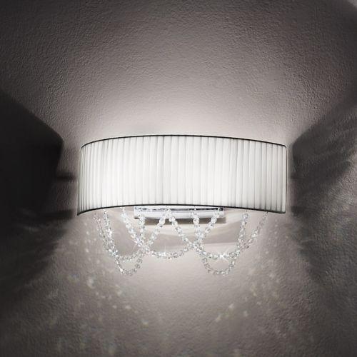 Kolarz Gioiosa Ground Crystal Wall Light FLO.1097/A2.04.T-WH