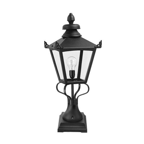 Elstead Grampian 1 Light Black Outdoor Bollard Lantern GN1/BLK