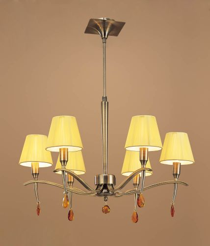 Mantra Siena 6 light Antique Brass Ceiling Pendant M0342AB