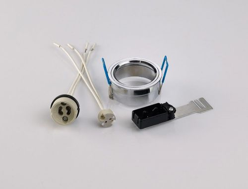 Diyas IL30800CH Downlight Component Kit Lampholders Retaining Ring Polished Chrome