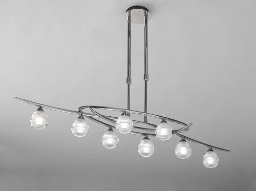 Mantra Loop Polished Chrome 8 Light Ceiling Fitting M1800