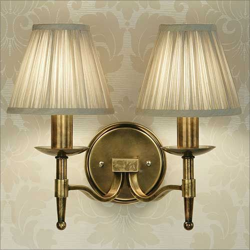 Interiors 1900 Stanford Double Wall Light Brass 63654