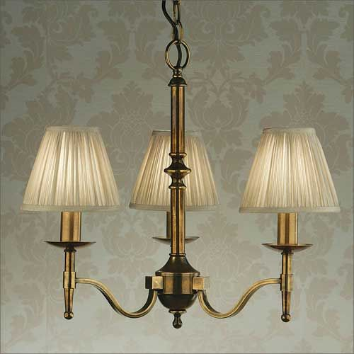 Interiors 1900 Stanford 3-light Chandelier Brass 63628