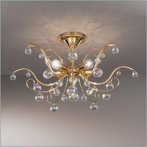 Kolarz Carmen 5 Light Gold Flush Fitting 3234.15.3
