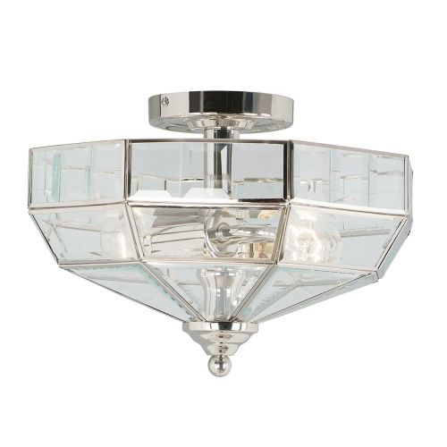 Elstead OLD-PARK-PN Old Park 2Lt Polished Nickel Ceiling Light