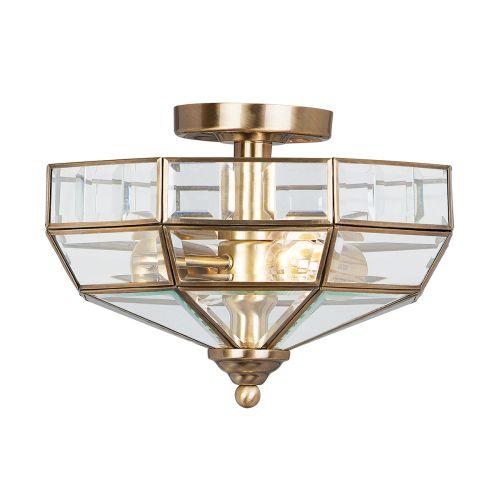 Elstead OLD-PARK-AB Old Park 2Lt Antique Brass Ceiling Light