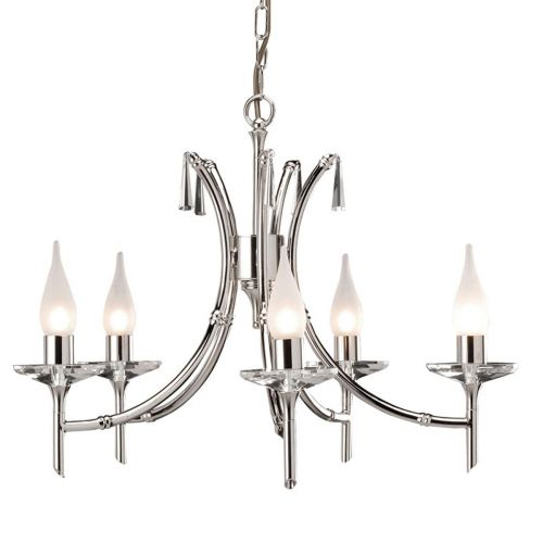 Elstead Brightwell 5 Light Polished nickel Ceiling Fitting BR5