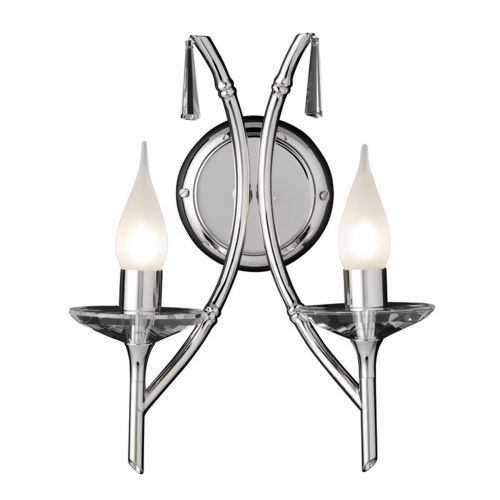 Elstead Brightwell 2 Light Polished Nickel Wall Light BR2