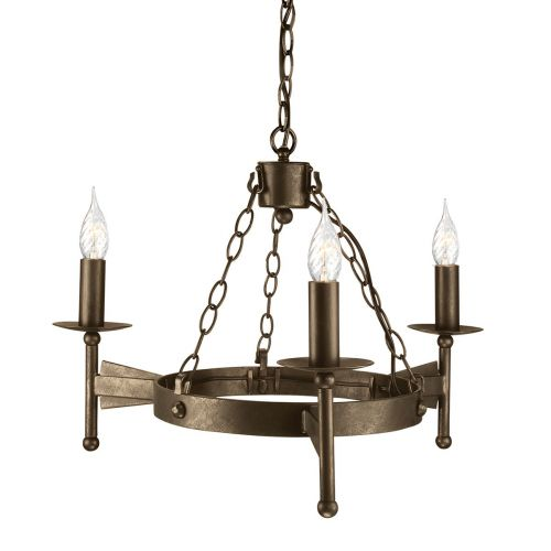 Elstead Cromwell Wrought Iron 3 Ceiling Light CW3