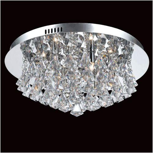 Impex Parma CFH011025/06/CH 6 Light Flush Chrome Ceiling Fitting